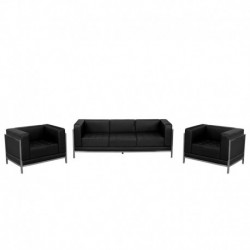 MFO Immaculate Collection Black Leather Sofa & Chair Set