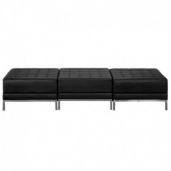 MFO Immaculate Collection Black Leather Three Seat Bench