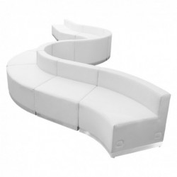 MFO Inspiration Collection White Leather Reception Configuration, 10 Pieces