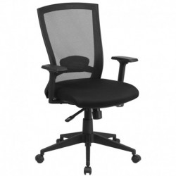 MFO Mid-Back Black Mesh Chair with Back Angle Adjustment