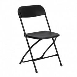 MFO 800 lb. Capacity Premium Black Plastic Folding Chair