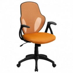 MFO Mid-Back Executive Orange Mesh Chair with Nylon Base