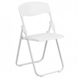 MFO 880 lb. Capacity Heavy Duty White Plastic Folding Chair