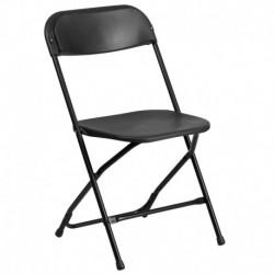 MFO 800 lb. Capacity Black Plastic Folding Chair