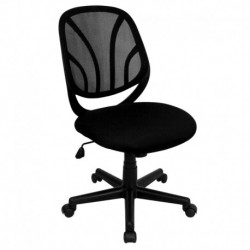 MFO Y-Go Mid-Back Black Mesh Computer Task Chair