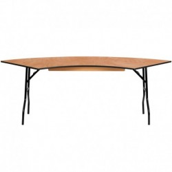 MFO 7.25 ft. x 2.5 ft. Serpentine Wood Folding Banquet Table