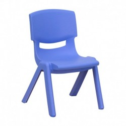 MFO Blue Plastic Stackable School Chair with 10.5'' Seat Height