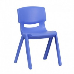 MFO Blue Plastic Stackable School Chair with 13.25'' Seat Height