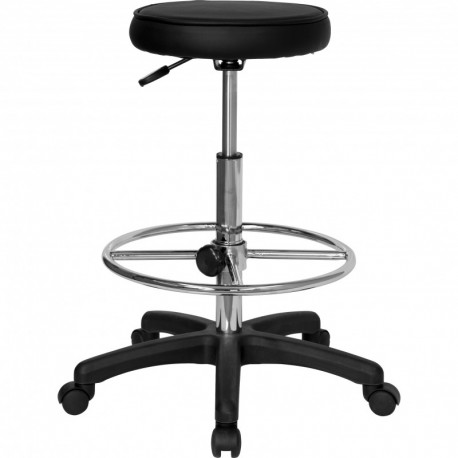 MFO Backless Drafting Stool with Adjustable Foot Ring