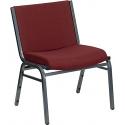 MFO 1000 lb. Capacity Big and Tall Extra Wide Burgundy Fabric Stack Chair