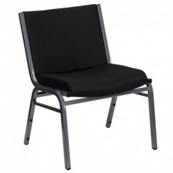 MFO 1000 lb. Capacity Big and Tall Extra Wide Black Fabric Stack Chair
