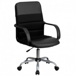 MFO Mid-Back Black Mesh & Leather Chair