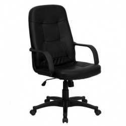 MFO High Back Black Glove Vinyl Executive Office Chair