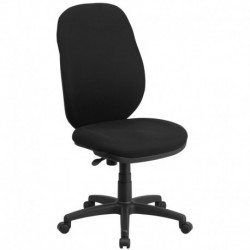 MFO High Back Black Fabric Ergonomic Task Chair with Flex Back
