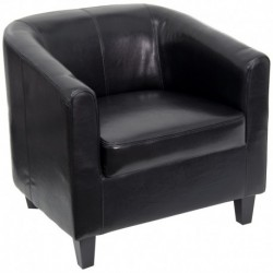MFO Black Leather Office Guest Chair / Reception Chair