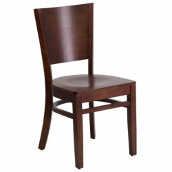 MFO Chimera Collection Solid Back Walnut Wooden Restaurant Chair