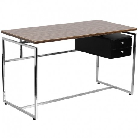 MFO Computer Desk with Two Drawer Pedestal