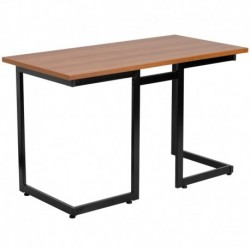 MFO Cherry Computer Desk with Black Frame