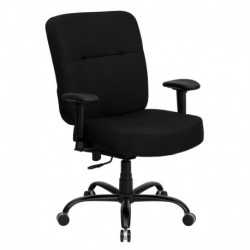 MFO 400 lb. Capacity Big & Tall Black Fabric Office Chair with Arms and Extra WIDE Seat