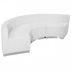 MFO Inspiration Collection White Leather Reception Configuration, 3 Pieces
