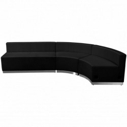 MFO Inspiration Collection Black Leather Reception Configuration, 3 Pieces