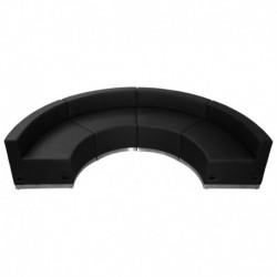 MFO Inspiration Collection Black Leather Reception Configuration, 4 Pieces