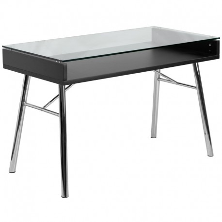 MFO Brettford Desk with Tempered Glass Top