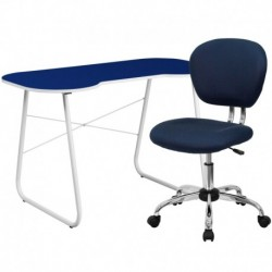 MFO Navy Computer Desk and Mesh Chair