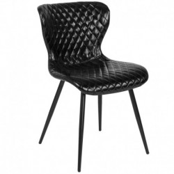 MFO Oscar Collection Contemporary Upholstered Chair in Black Vinyl
