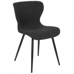 MFO Oscar Collection Contemporary Upholstered Chair in Black Fabric