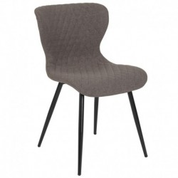 MFO Oscar Collection Contemporary Upholstered Chair in Gray Fabric
