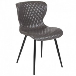 MFO Oscar Collection Contemporary Upholstered Chair in Gray Vinyl