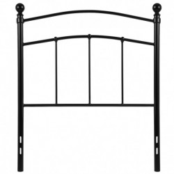 MFO Stanford Collection Decorative Black Metal Twin Size Headboard