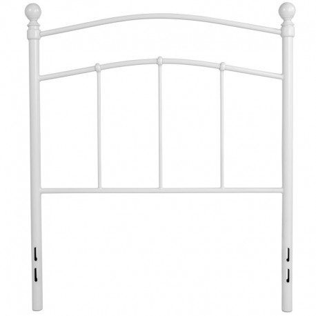 MFO Stanford Collection Decorative White Metal Twin Size Headboard