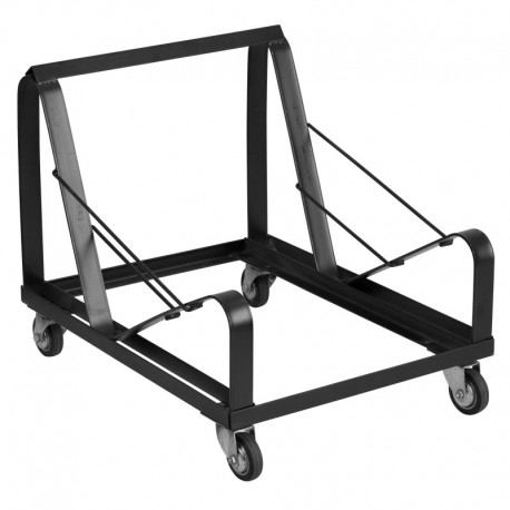 MFO Princeton Collection Black Steel Sled Base Stack Chair Dolly