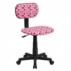 MFO Pink Dot Printed Swivel Task Office Chair