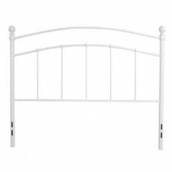 MFO Stanford Collection Decorative White Metal Full Size Headboard