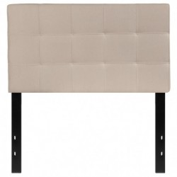 MFO Gale Collection Twin Size Headboard in Beige Fabric