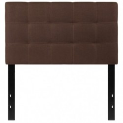MFO Gale Collection Twin Size Headboard in Dark Brown Fabric