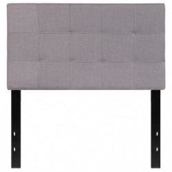 MFO Gale Collection Twin Size Headboard in Light Gray Fabric