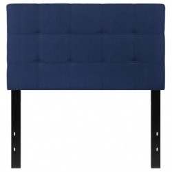 MFO Gale Collection Twin Size Headboard in Navy Fabric