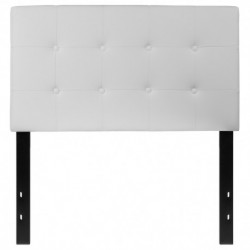 MFO Lennox Collection Twin Size Headboard in White Vinyl
