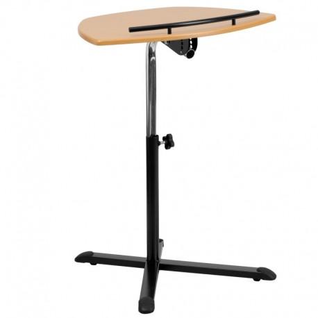 MFO Height Adjustable Natural Laptop Computer Desk
