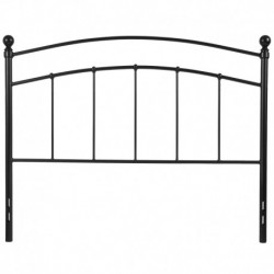 MFO Stanford Collection Decorative Black Metal Full Size Headboard