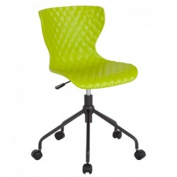 MFO Arthur Collection Contemporary Design Citrus Green Plastic Task Office Chair