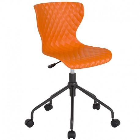 MFO Arthur Collection Contemporary Design Orange Plastic Task Office Chair