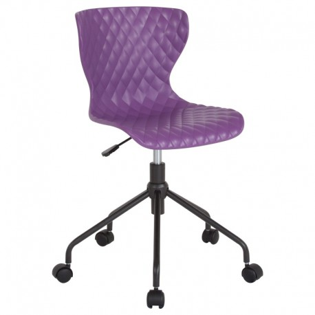 MFO Arthur Collection Contemporary Design Purple Plastic Task Office Chair