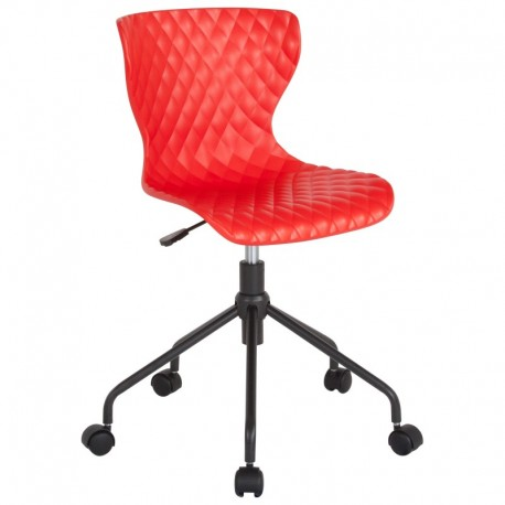 MFO Arthur Collection Contemporary Design Red Plastic Task Office Chair