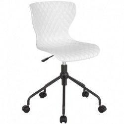 MFO Arthur Collection Contemporary Design White Plastic Task Office Chair