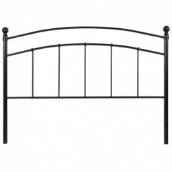 MFO Stanford Collection Decorative Black Metal Queen Size Headboard